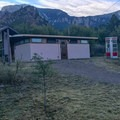 The bath house. - Chiso Basin Campground