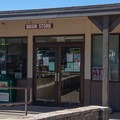 The camp store near the visitor center, about a half-mile walk from the campground via a steep trail.- Chiso Basin Campground