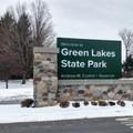 Entrance sign.- Green Lakes Perimeter Loops