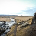 Walking to the upper falls, with views overlooking the lower Merkjá River.- Gluggafoss (Merkjárfoss) Waterfall