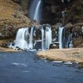 Gluggasfoss (Merkjárfoss).- Gluggafoss (Merkjárfoss) Waterfall
