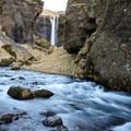 Kvernufoss and the Kverna River.- Kvernufoss (Sigurfoss) Waterfall
