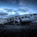 Iceland's picturesque plane wreckage can appear eerie beneath the area's desolate landscape.- Solheimasandur Plane Wreck