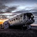 Iceland's DC-3 plane crash site.- Solheimasandur Plane Wreck