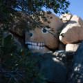 Boulder Park is littered with painted and carved rocks.- Boulder Park