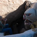 Unidentifiable monster in Boulder Park.- Boulder Park