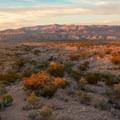 Final sunset at the trailhead looking north.- Balanced Rock via Grapevine Hills Trail