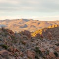 Looking north down the valley along the ridge. - Balanced Rock via Grapevine Hills Trail