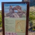 Trailhead information sign.- Balanced Rock via Grapevine Hills Trail