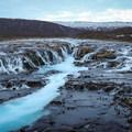 Brúarfoss and its emerald waters.- Brúarfoss