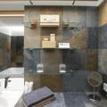 Bathrooms include eco-friendly bathing amenities.- Hotel Húsafell