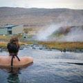 Krauma Geothermal Baths get their water from the adjacent Deildartunguhver, Europe's most powerful geothermal spring, which emits 180 liters of water per second at 100˚C.- Krauma Geothermal Baths