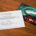 The hotel's attention to details stands out, including these postcards left for each guest. The hotel will mail them anywhere in the world if returned to the reception desk.- Hotel Rangá