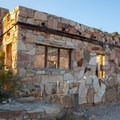 One of the old buildings around the Hot Spring Resort. - Hot Springs Canyon Rim Trail