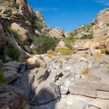 One of the small washes the trail skirts around.- Hot Springs Canyon Rim Trail