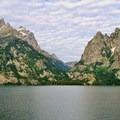 Cascade Canyon over Jenny Lake.- Jenny Lake Overlook