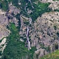 A waterfall from glacial melt.- Jenny Lake Overlook