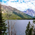 Mount Moran (12,605 ft) to the south.- Jenny Lake Overlook