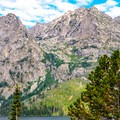 Alpine snow melts at high altitudes, creating beautiful cascades at lower elevations as the snow melts.- Jenny Lake Overlook