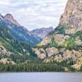 Cascade Canyon across Jenny Lake.- Jenny Lake Overlook