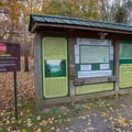 The campground information board.- Gee Campground