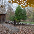 The amphitheater near the boat ramp and group campsites.- Gee Campground