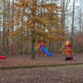 Gee Campground features great little playground.- Gee Campground