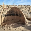 The eroded clay kilns let visitors get a good look inside.- Cottonwood Creek Charcoal Kilns
