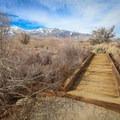 Independence Creek crossing.- Eastern California Museum Trail