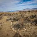 The trail follows a clearly marked, mostly flat course.- Eastern California Museum Trail