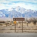 Manzanar National Historic Site sits adjacent to Highway 395.- Manzanar National Historic Site