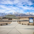 A large building houses a museum of the former internment camp.- Manzanar National Historic Site