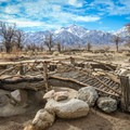 A recreation of the garden built by detainees.- Manzanar National Historic Site