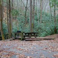 Typical site on the upper section of the campground.- Horse Cove Campground