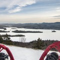 Snowshoeing on the summit.- Castle Rock Snowshoe