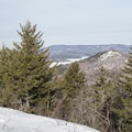 Tupper Lake to the north.- Coney Mountain Snowshoe