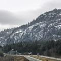 Poke-O-Moonshine Mountain from the Northway.- Poke-O-Moonshine Snowshoe