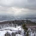The landscape to the southwest.- Poke-O-Moonshine Snowshoe