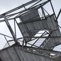Looking up the fire tower.- Poke-O-Moonshine Snowshoe