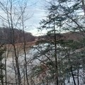 A view of the Genesee River.- Genesee Riverway Trail at Seneca Park