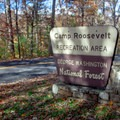 Camp Roosevelt entrance off of State Route 675. - Camp Roosevelt Campground