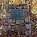 Official plaque for the country's first Civilian Conservation Corps camp.- Camp Roosevelt Campground