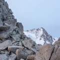 The prominence of Aiguille du Chardonnet in the background.- Tête Blanche