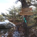 Turn left onto the High Point Trail.- Sam's Point Loop