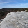 High Point Trail travels over slick rock.- Sam's Point Loop
