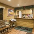 The welcome desk.- Adirondack Loj
