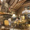 The living room.- Adirondack Loj