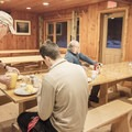 Meals are served family-style.- Adirondack Loj