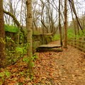 Crumbling concrete of the original Fort Harrison.- Schoen Creek Trail