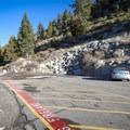 The trailhead parking area is small, with room for only about five cars.- Cave Rock Trail